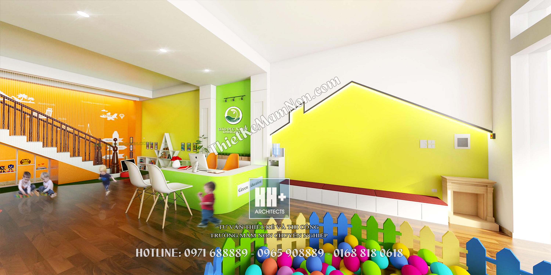 Thiết kế trường mầm non  thiết kế trường mầm non Thiết kế trường mầm non Green Education 1 5