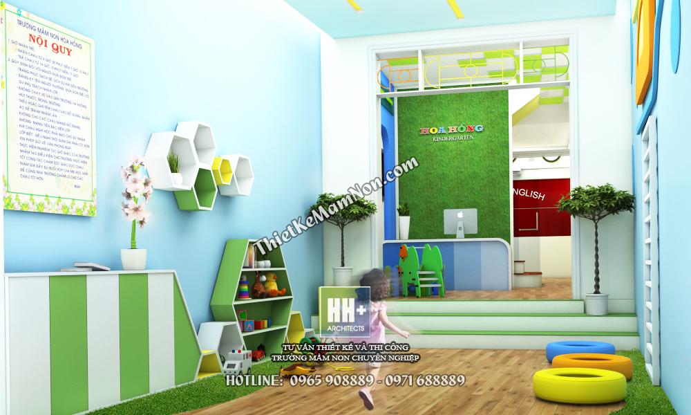 Thiết kế trường mầm non đẹp thiết kế trường mầm non đẹp Thiết kế trường mầm non đẹp Hoa Hồng 2 4