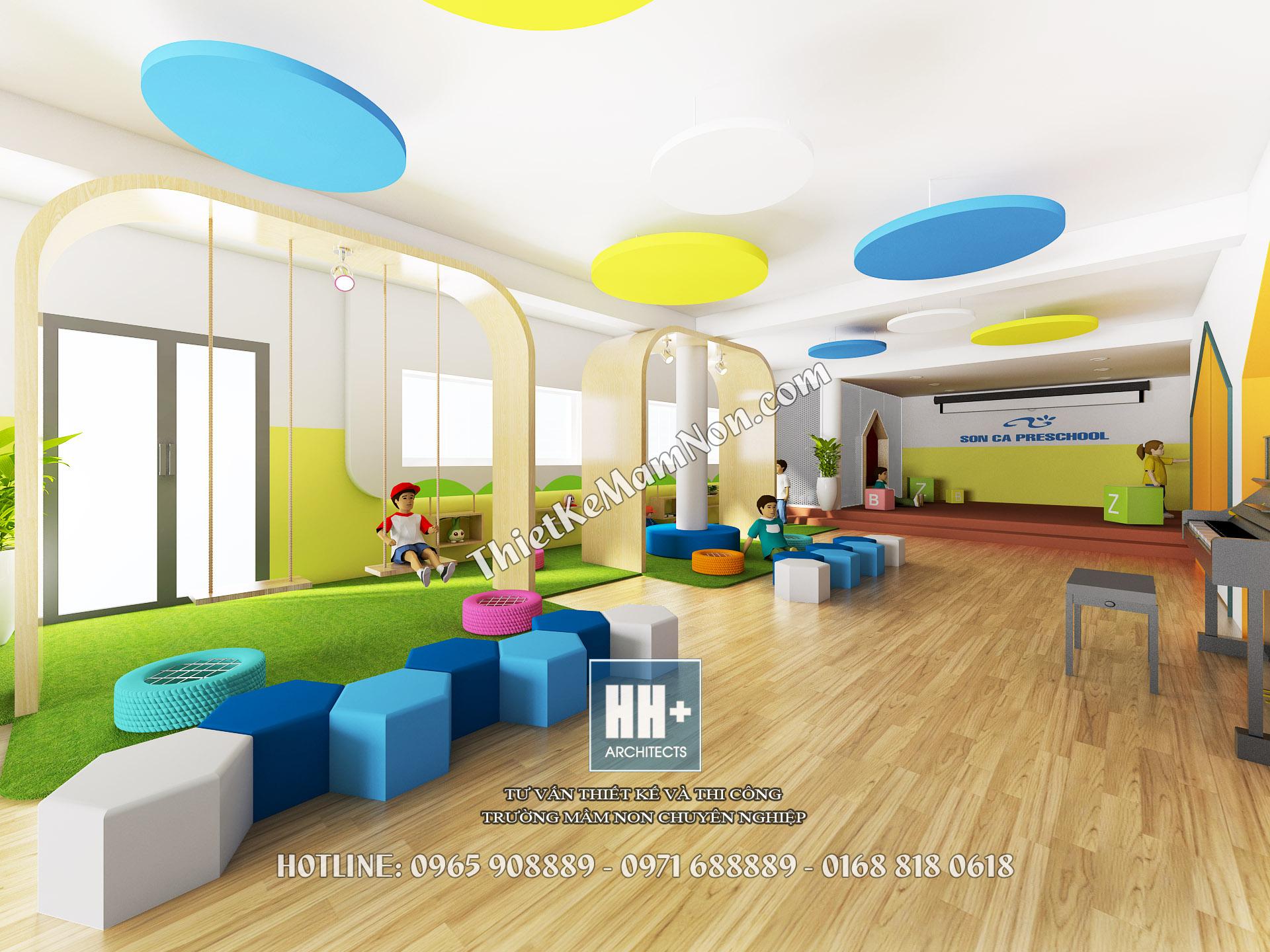 Thiết kế trường mầm non thiết kế trường mầm non Thiết kế trường mầm non Sơn Ca Định Công 5aaa