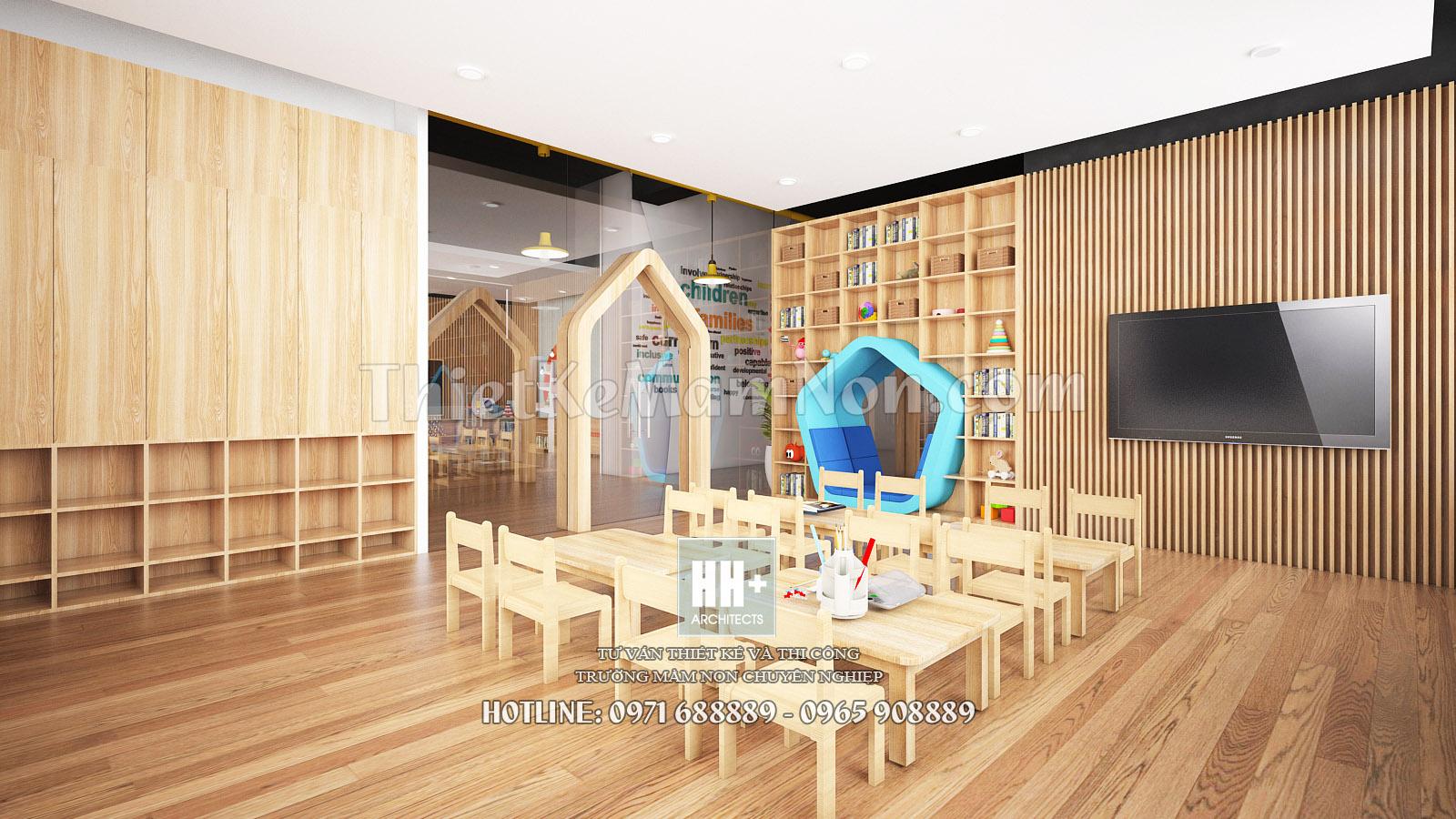 Thiết kế trường mầm non Sunshine thiết kế trường mầm non Thiết kế trường mầm non đẹp đạt chuẩn Lop hoc 2