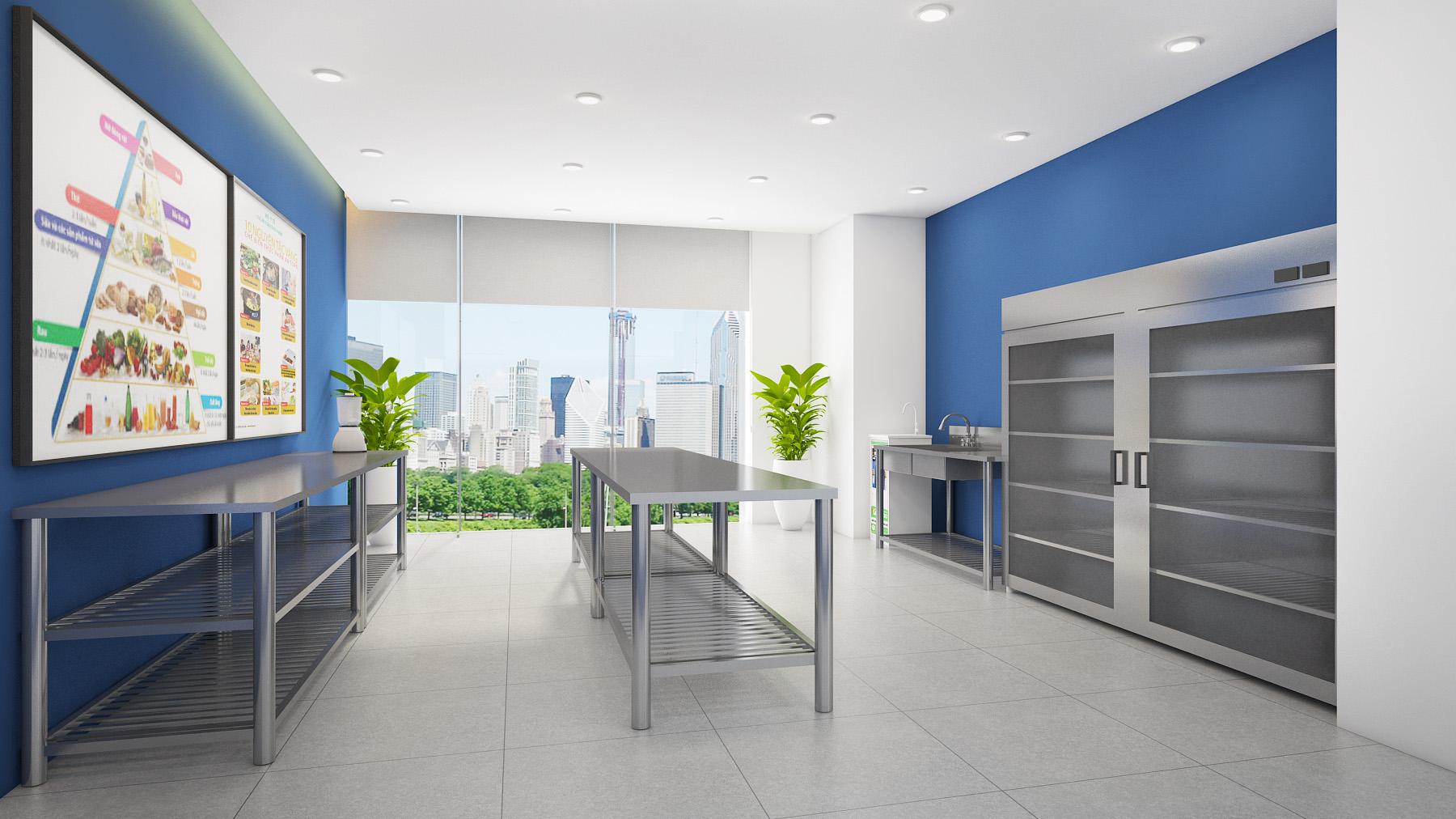 Thiết kế bếp trường mầm non thiết kế trường mầm non Thiết kế trường mầm non đẹp đạt chuẩn bEP