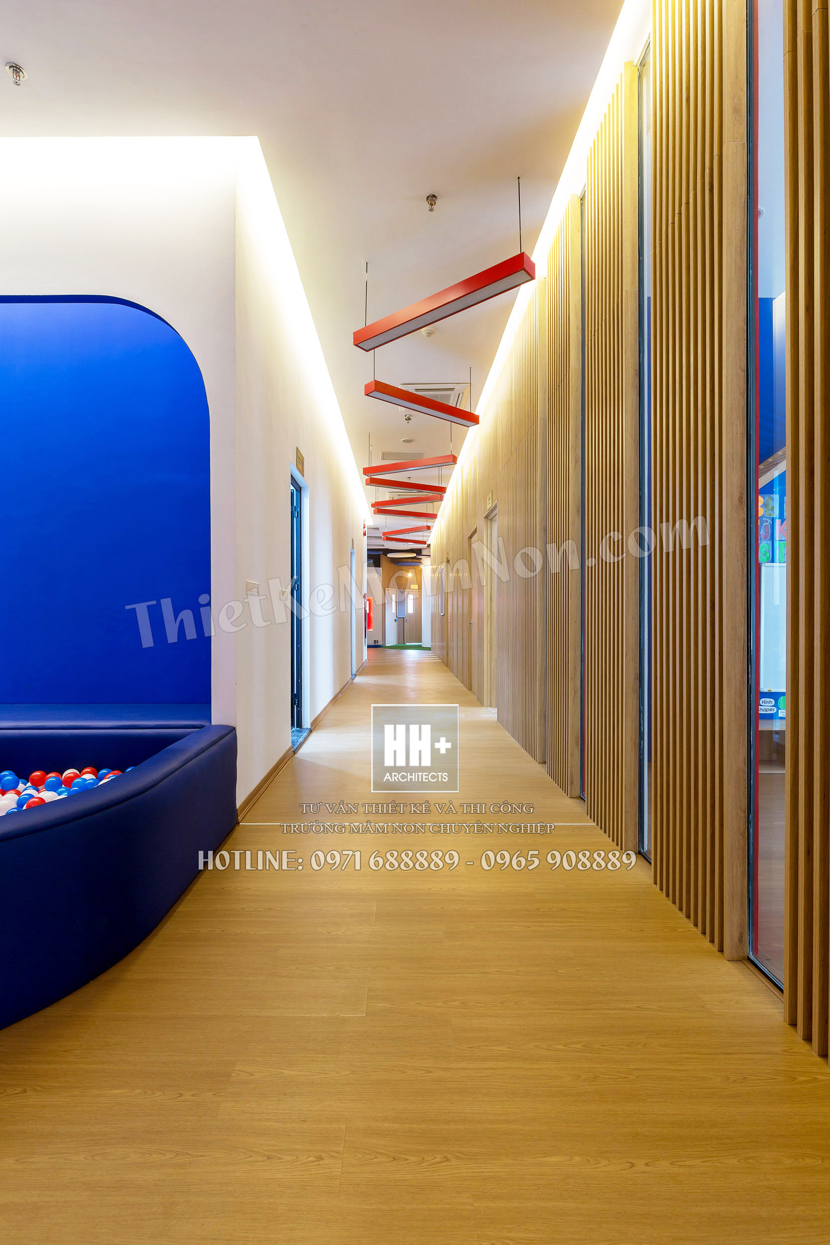 Rosemont_hanhlang_01 thiết kế trường mầm non Thiết kế trường mầm non Quốc Tế MỸ ROSEMONT Rosemont hanhlang 01