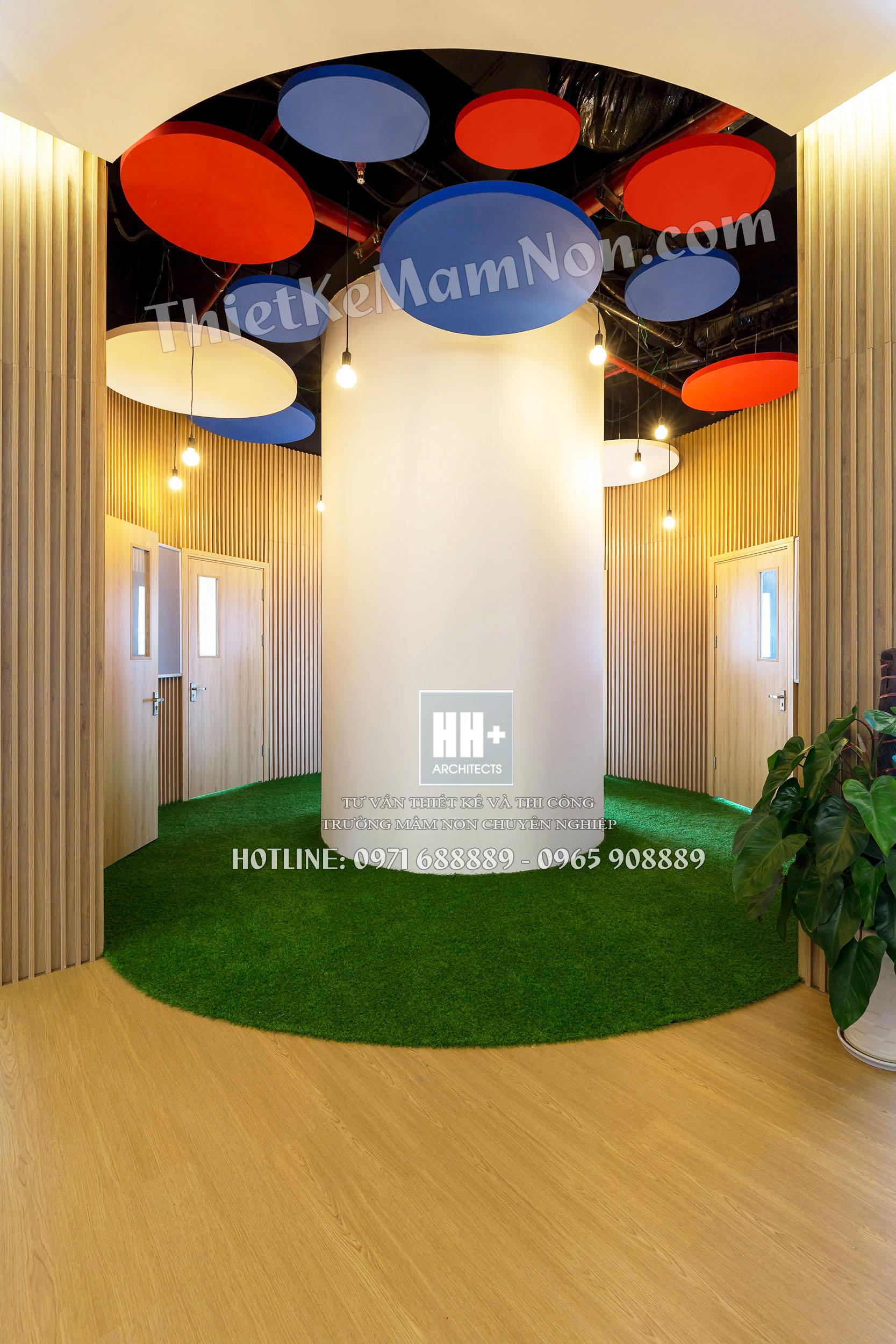 Rosemont_hanhlang_02 thiết kế trường mầm non Thiết kế trường mầm non Quốc Tế MỸ ROSEMONT Rosemont hanhlang 02
