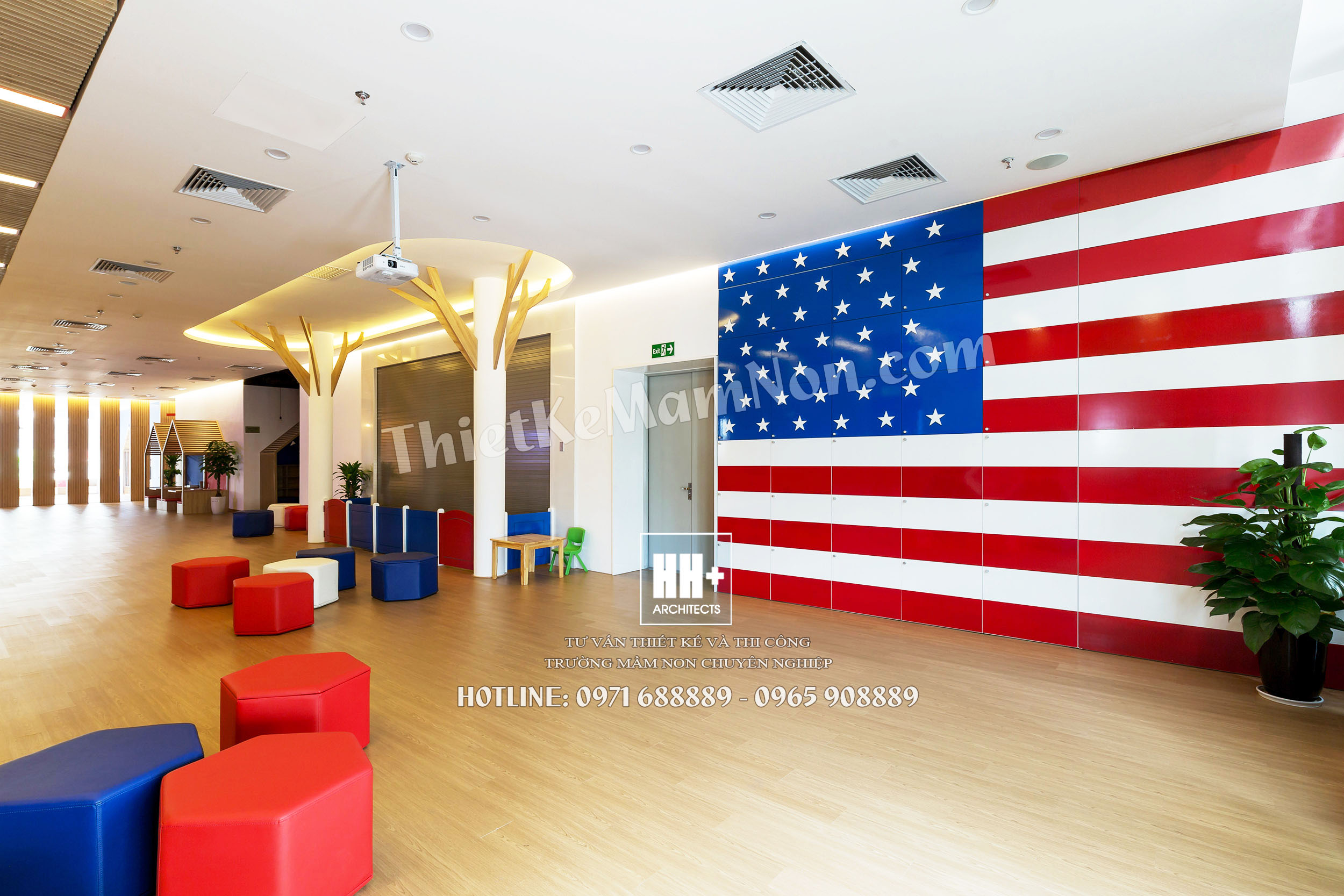 Thiết kế trường mầm non quốc tế Mỹ ROSEMONT thiết kế trường mầm non Thiết kế trường mầm non Quốc Tế MỸ ROSEMONT Rosemont sinhhoatchung 06