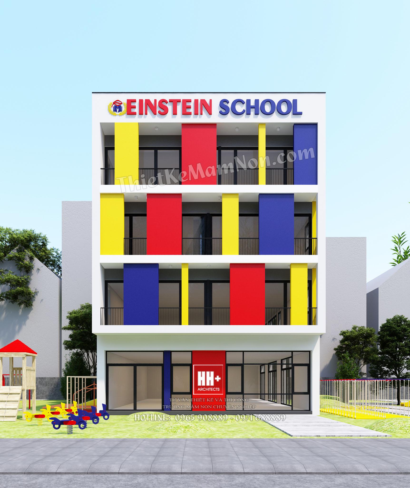 1cc thiết kế trường mầm non Thiết kế trường mầm non quốc tế Einstein 1cc