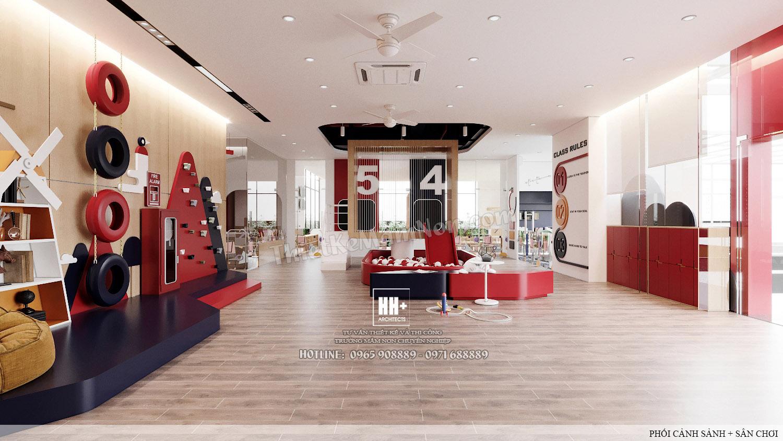 2 - SANH (4) Thiết kế trường mầm non Thiết kế trường mầm non HM KINDERGARTEN SCHOOL 2 SANH 4