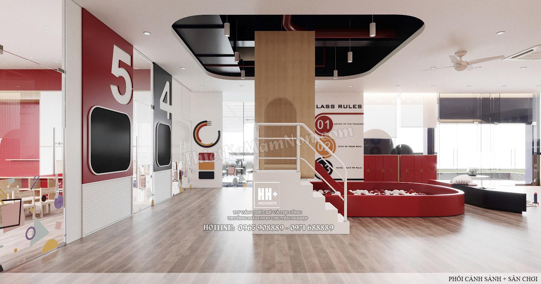 2 - SANH (6) Thiết kế trường mầm non Thiết kế trường mầm non HM KINDERGARTEN SCHOOL 2 SANH 6
