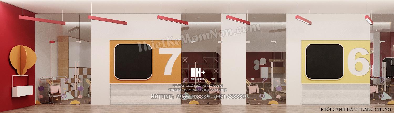 3 - HANH LANG (3) Thiết kế trường mầm non Thiết kế trường mầm non HM KINDERGARTEN SCHOOL 3 HANH LANG 3