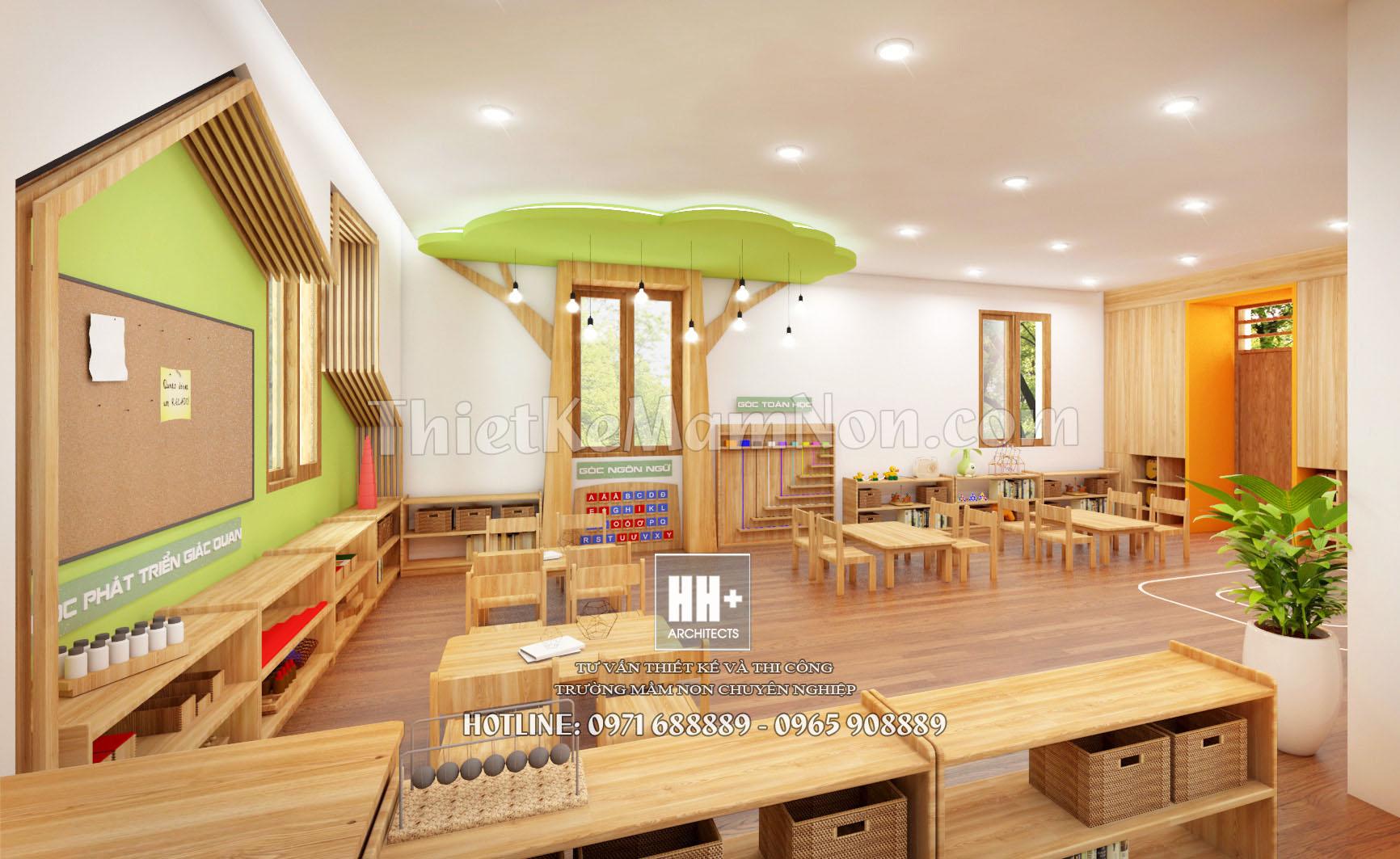 6 thiết kế trường mầm non montessori Thiết kế trường mầm non montessori Việt Anh 6 1