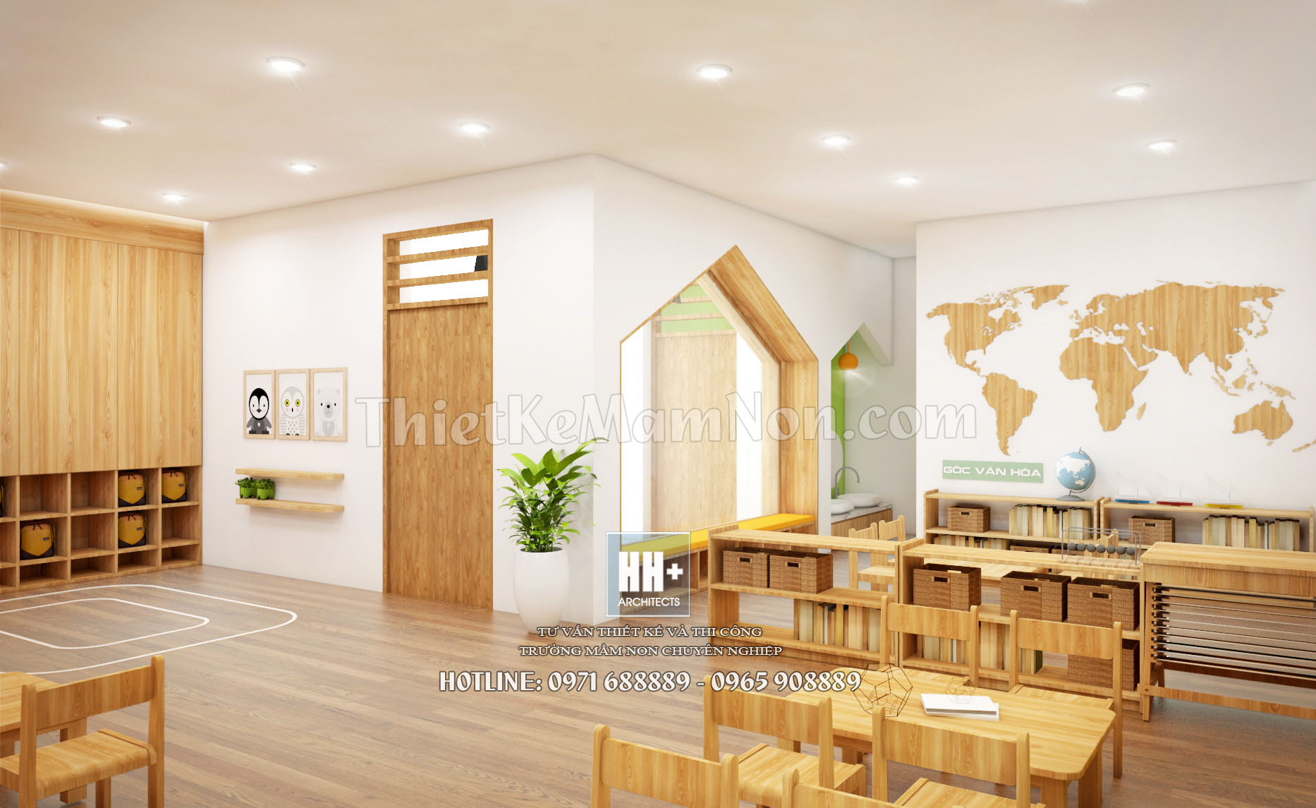 9 thiết kế trường mầm non montessori Thiết kế trường mầm non montessori Việt Anh 9 1