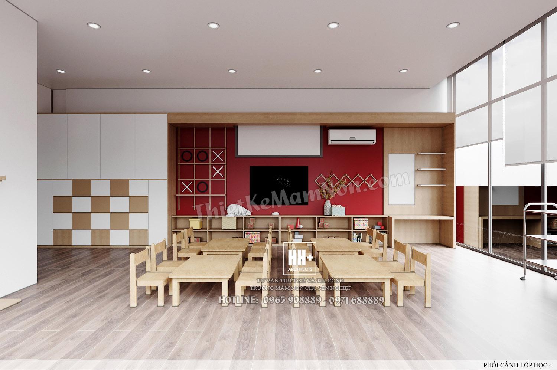 LH 4 (2) Thiết kế trường mầm non Thiết kế trường mầm non HM KINDERGARTEN SCHOOL LH 4 2