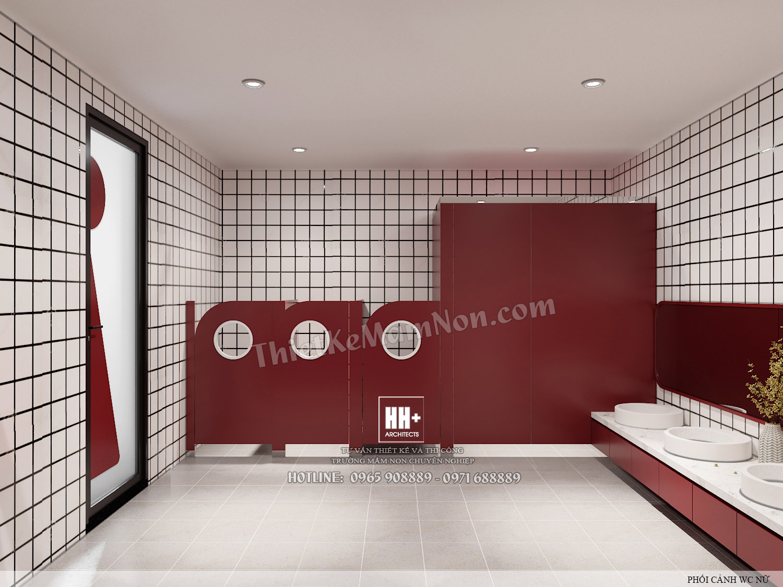 WC2 (2) Thiết kế trường mầm non Thiết kế trường mầm non HM KINDERGARTEN SCHOOL WC2 2