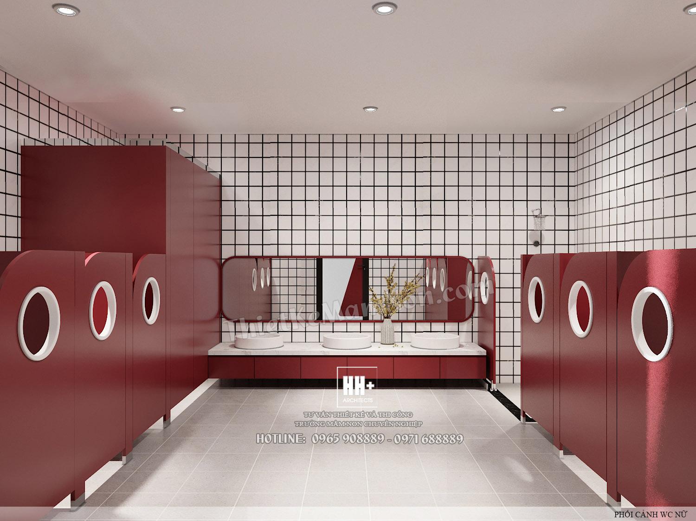 WC2 (3) Thiết kế trường mầm non Thiết kế trường mầm non HM KINDERGARTEN SCHOOL WC2 3