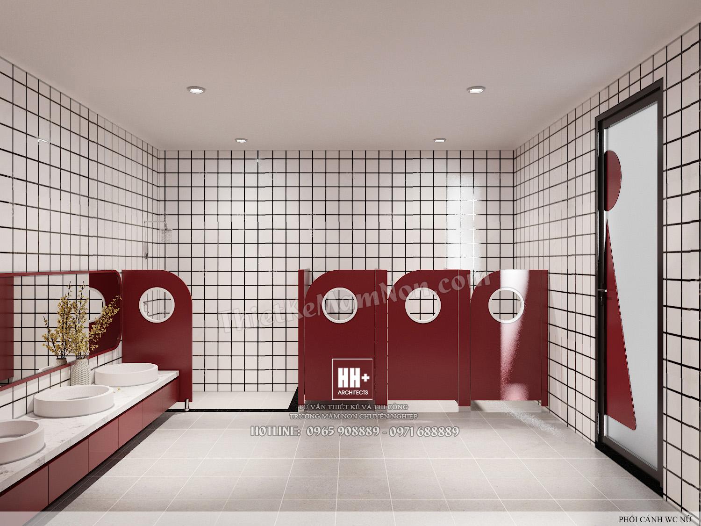 WC2 (4) Thiết kế trường mầm non Thiết kế trường mầm non HM KINDERGARTEN SCHOOL WC2 4