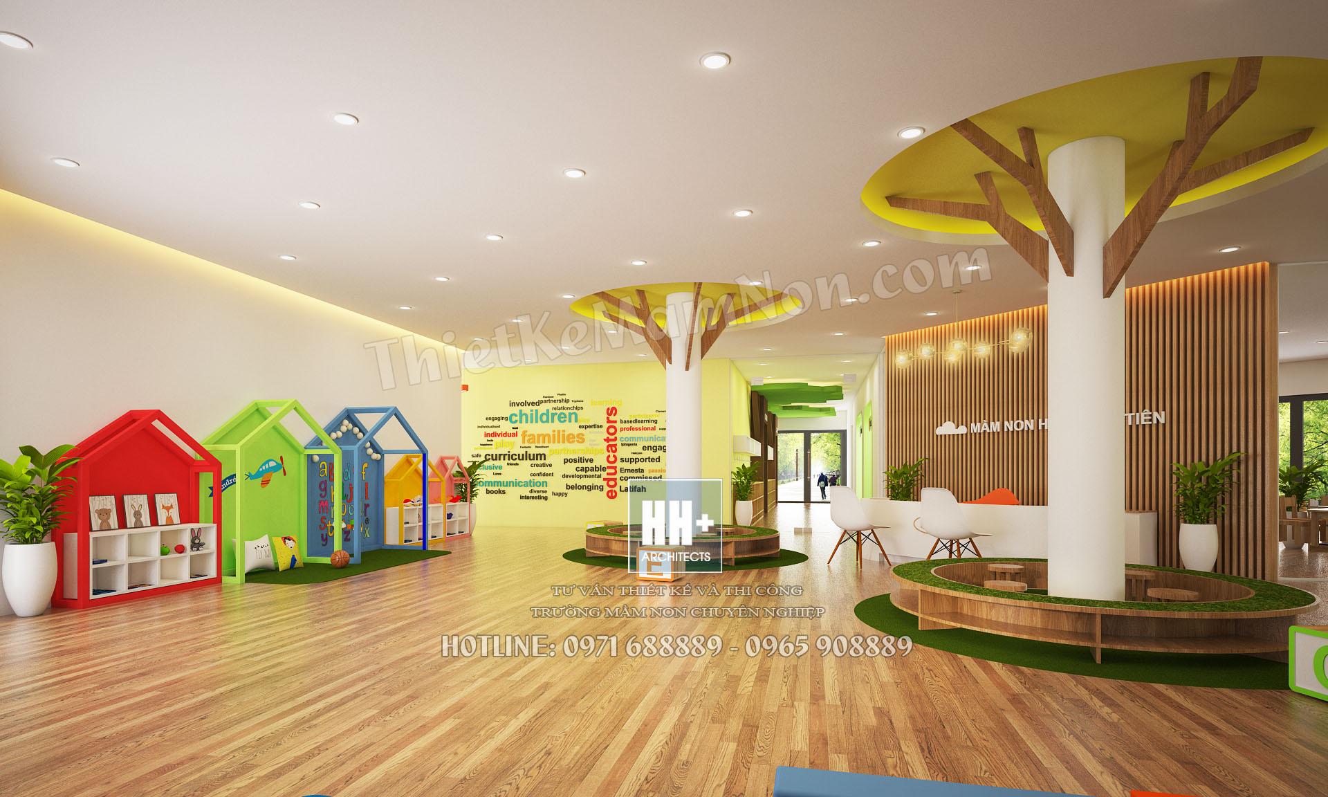 01 Sanh 1 Thiết kế trường mầm non montessori Thiết kế trường mầm non montessori Hoa Thủy Tinh 01 Sanh 1