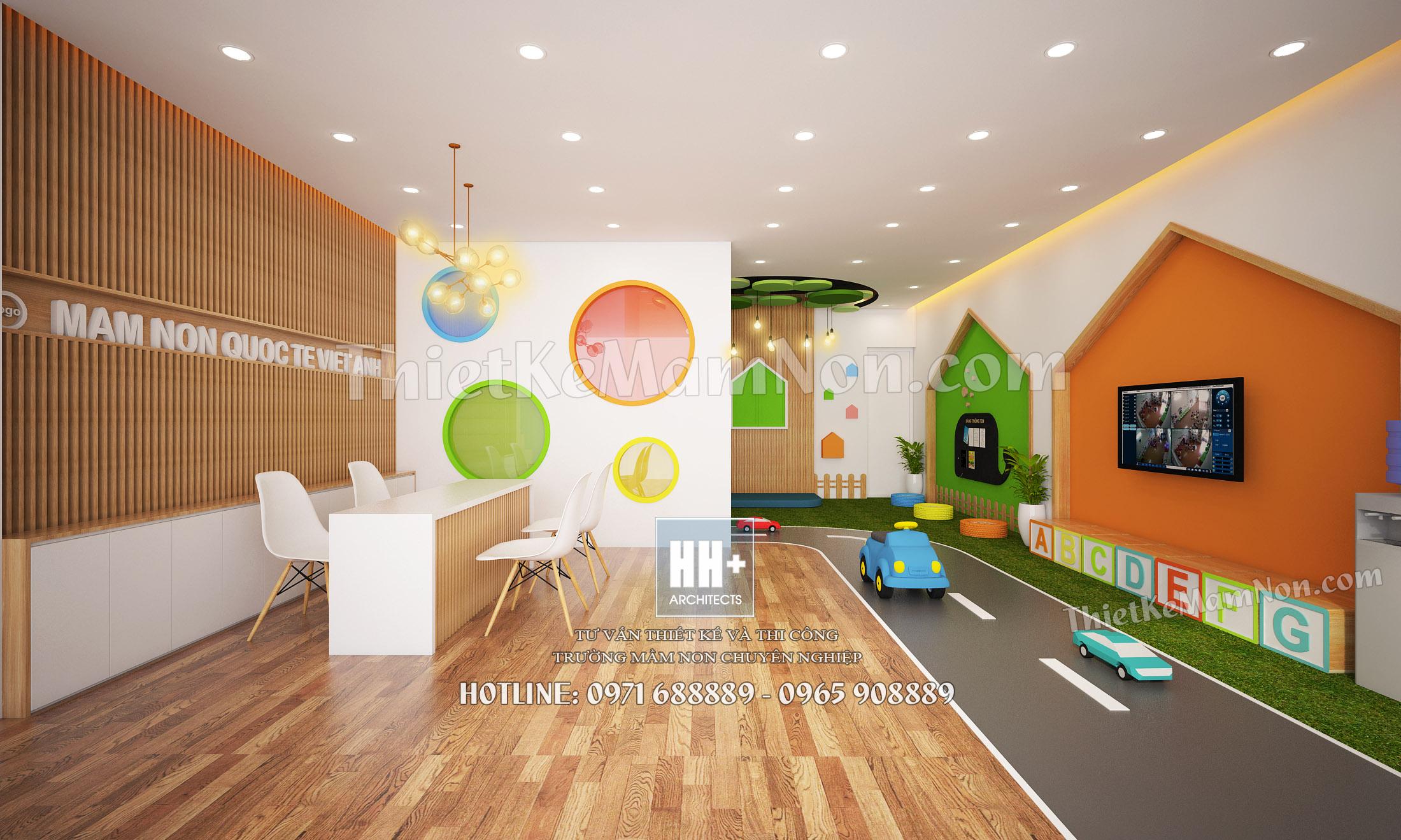 Thiết kế nội thất mầm non thiết kế nội thất mầm non Thiết kế nội thất mầm non quốc tế Việt Anh 01