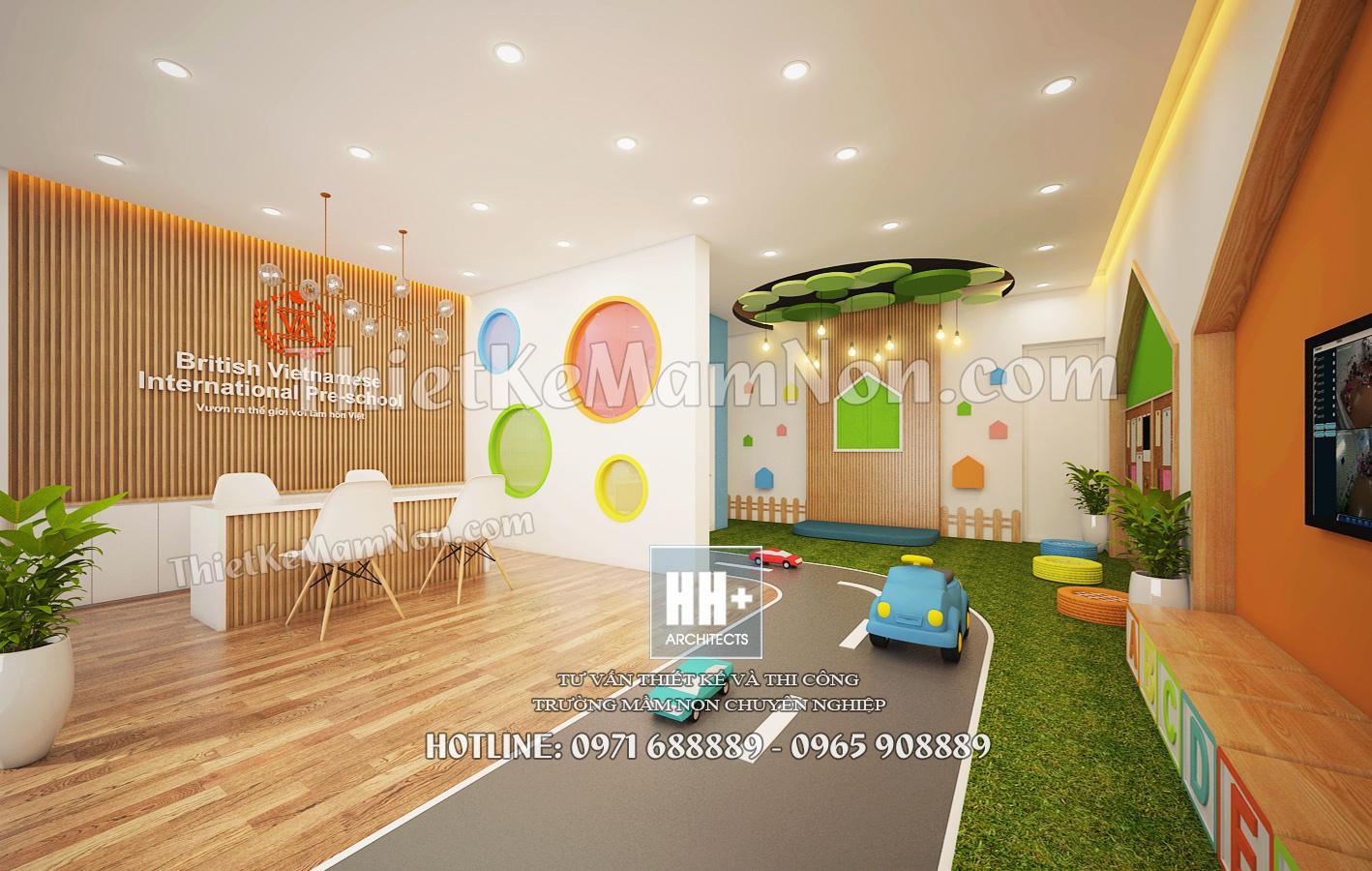 Seo hình ảnh hiệu quả thiết kế nội thất mầm non Thiết kế nội thất mầm non quốc tế Việt Anh 02
