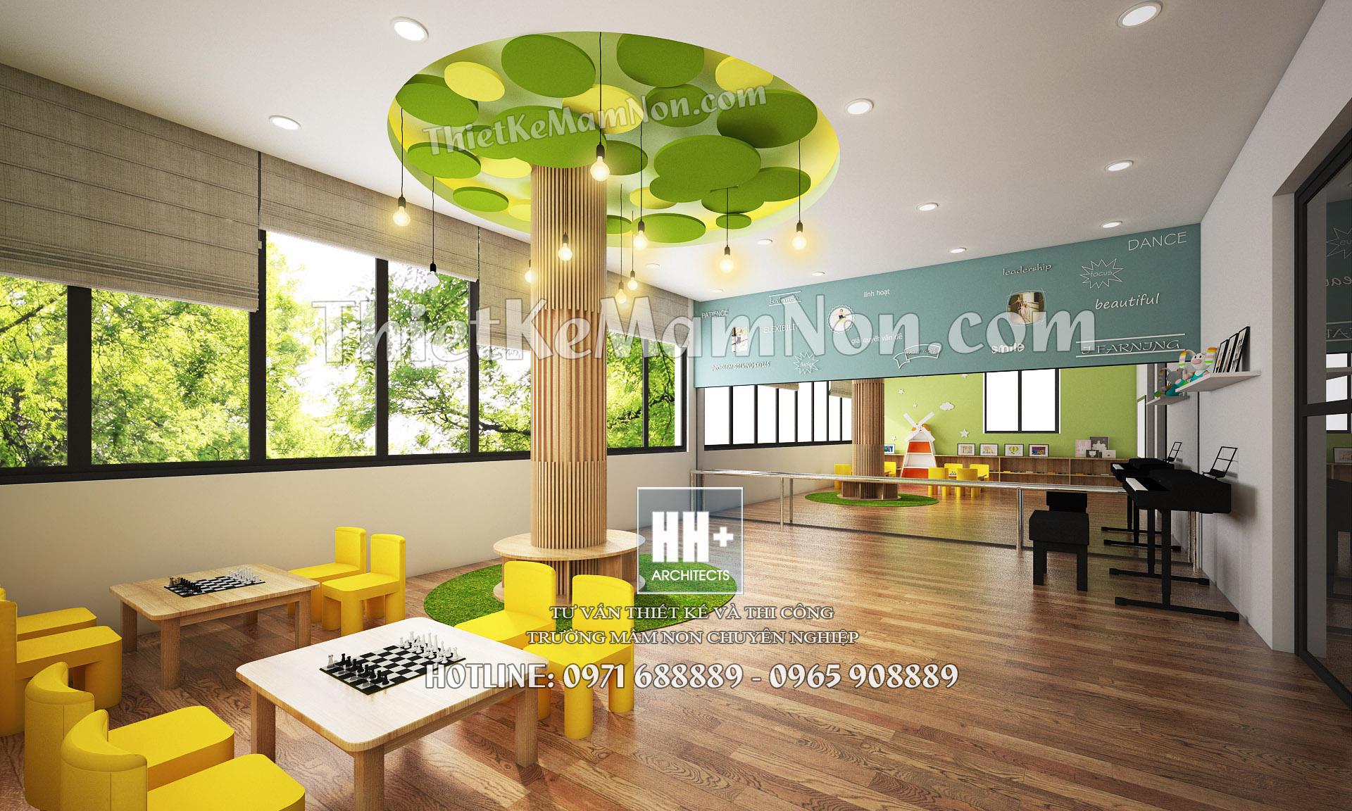 05 thiết kế nội thất mầm non Thiết kế nội thất mầm non quốc tế Việt Anh 05