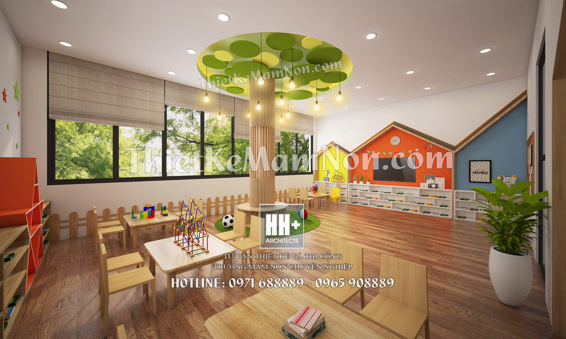 06 thiết kế nội thất mầm non Thiết kế nội thất mầm non quốc tế Việt Anh 06
