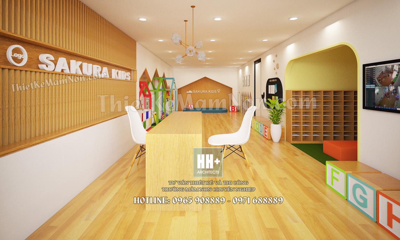 1 Thiết kế trường mầm non Thiết kế trường mầm non Nhật Bản Sakura Kids 1
