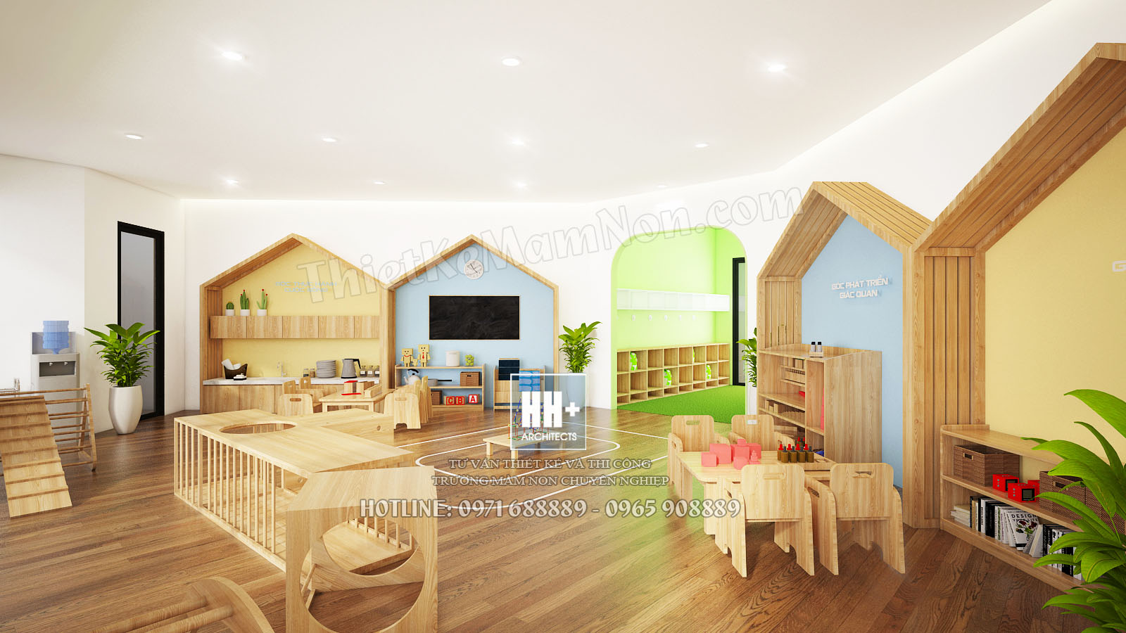 10 Tang 3 Thiết kế trường mầm non montessori Thiết kế trường mầm non montessori Hoa Thủy Tinh 10 Tang 3