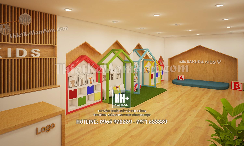 3 Thiết kế trường mầm non Thiết kế trường mầm non Nhật Bản Sakura Kids 3