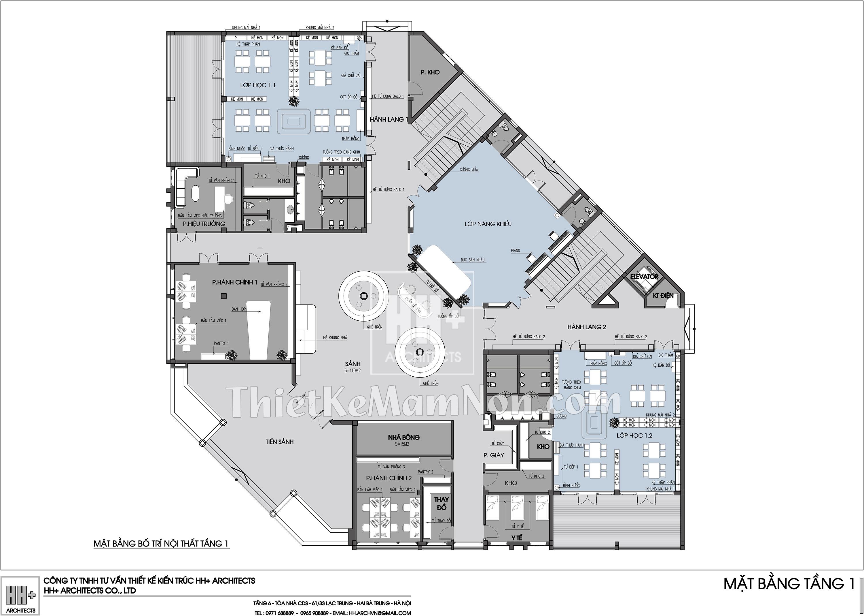 MBNTT1 Thiết kế trường mầm non montessori Thiết kế trường mầm non montessori Hoa Thủy Tinh MBNTT1